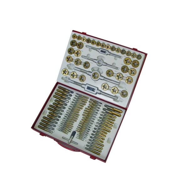 Комплект метчици и плашки GBM110TIN Holzmann